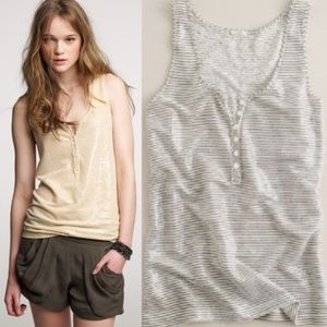 J. Crew Gray & White Striped Sequined Top - Size M